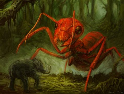 deviantart painting paradox ant and elephant by darkberry fruity on deviantart
