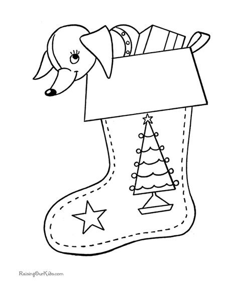 coloring page for christmas stocking free christmas coloring pictures full stocking
