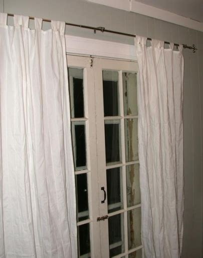 how to hang curtain on metal door how to hang curtain for french doors for the home