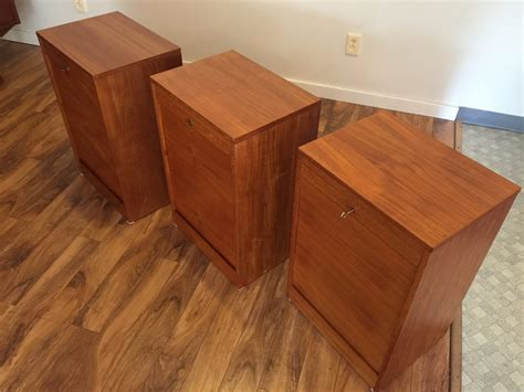 danish teak file cabinet danish teak file cabinets 390 each modern to vintage