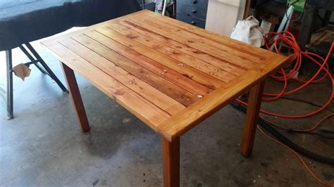 rustic table   scrap wood great patio table easy