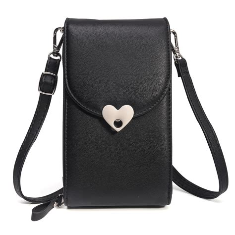 Leather Iphone Samsung crossbody shoulder bag cellphone pouch leather cover