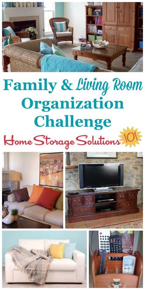 organizing living room organizing living room family room challenge
