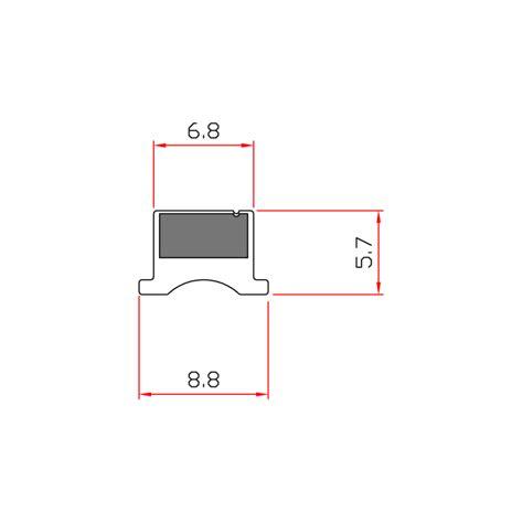guarnizioni doccia gomma guarnizione magnetica box doccia in gomma ec mag 3302