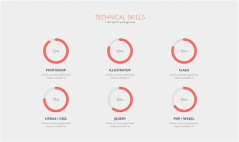 Job Resume Examples Skills by Displaying User Skills With Pie Chart In Percentage User Experience Stack Exchange