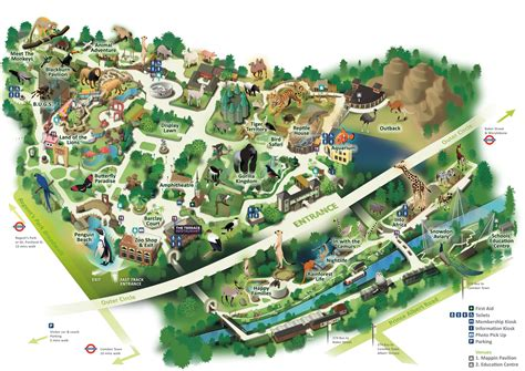 zoo map map of zsl zoo zoological society of zsl