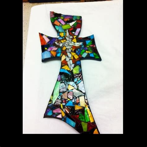 stained glass cross tattoo 7 best images about crosses mosaic etc on