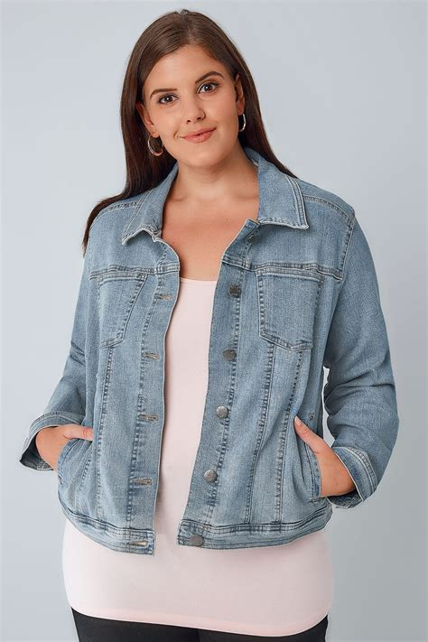 light blue denim jacket light blue denim jacket plus size 16 to 32
