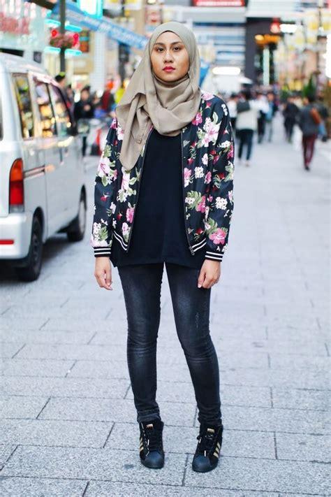 Jaket Bomber Flower Siapa Bilang Cewek Tomboy Gak Bisa Stylish Ini Nih Cara