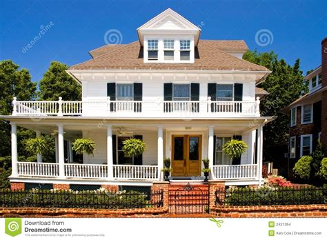 House Plans With Porches Old White House With Porch Stock Images Image 2421364