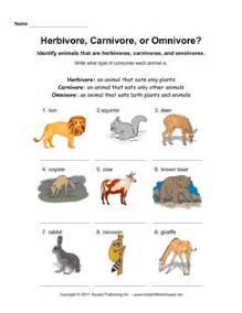 herbivore carnivore omnivore instant worksheets