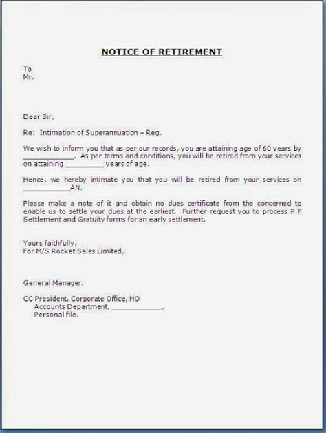 Retirement Acknowledgement Letter Uk Formal Retirement Letter Template Just B Cause