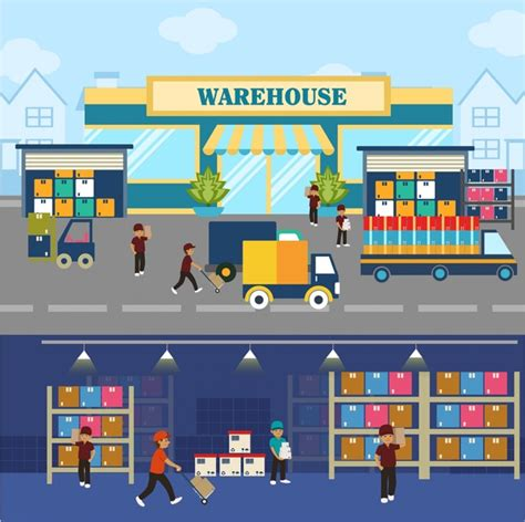 warehouse layout design software free download warehouse concepts illustration with elements in flat