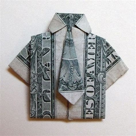 Money Origami Shirt With Tie - money origami 183 a of origami clothing 183 origami on