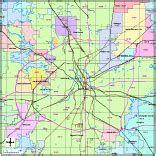 editable fort worth tx city map with roads highways
