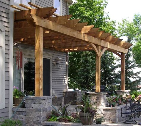 Ideas Design For Attached Pergola Pergola Attached To House Photos Garden Landscape