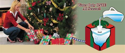 christmas tree watering present 1000 images about tree watering system on