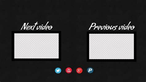 End Screen Template How To Create End Screen Template For Youtube Videos Youtube