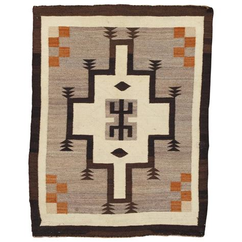 antique navajo rug antique navajo rug handmade wool rug beige and brown at 1stdibs