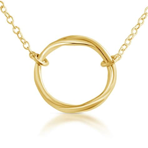 The Circle Of Karma gold plated necklace karma ring circle of