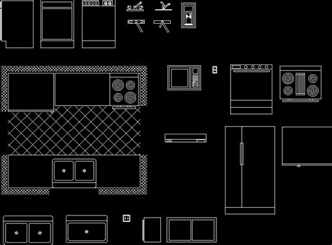Kitchen Layout Blocks | great autocad kitchen cabinet blocks greenvirals style
