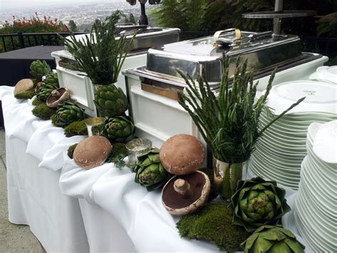 Decorate your buffet table with food