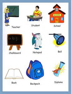Classroom items education pictionary for kids