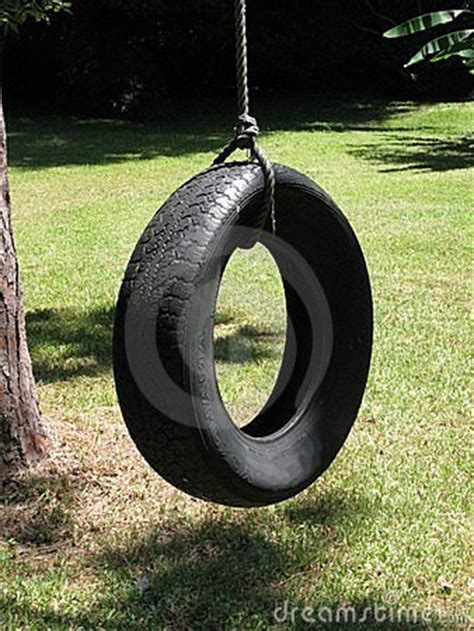 tire swing royalty  stock  image