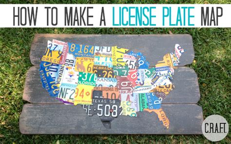 license plate map diy license plate map update c r a f t