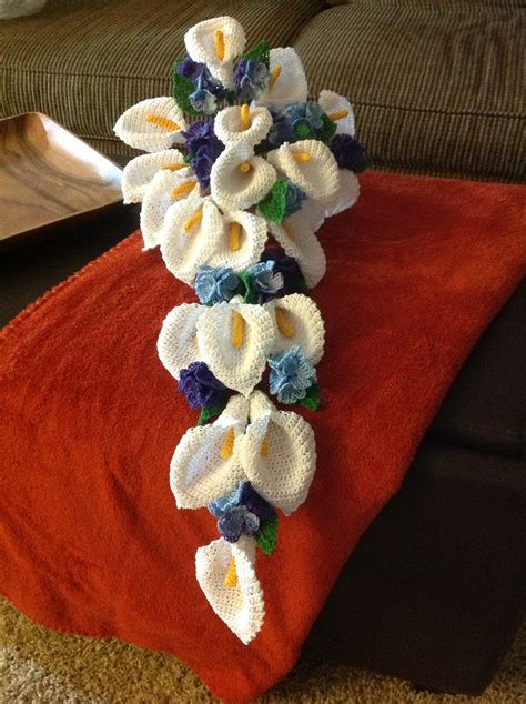 knitted flower bouquet crocheted bouquet not these flowers though