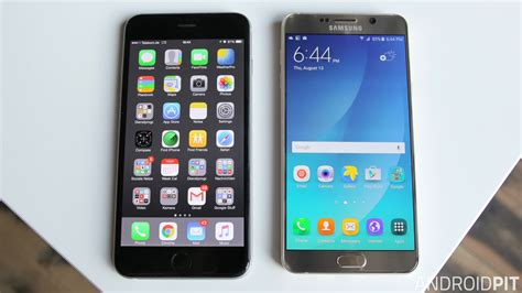 V Iphone 6 Samsung Galaxy Note 5 Vs Iphone 6 Plus Comparison Competition Androidpit