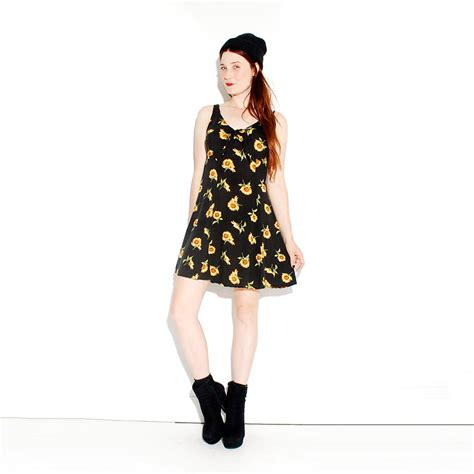 90s Floral by 90s Sunflower Dress Soft Grunge Floral Dress 90s Grunge