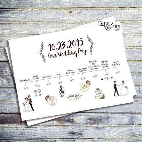Wedding Order Of Events by Wedding Timeline Custom Wedding Program Printable Order Of
