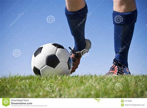 Kicking The kicking the soccer stock photo image of shoes kick