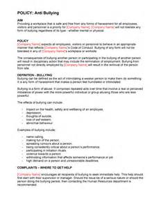 harassment and bullying policy template procedure manual template digital documents direct