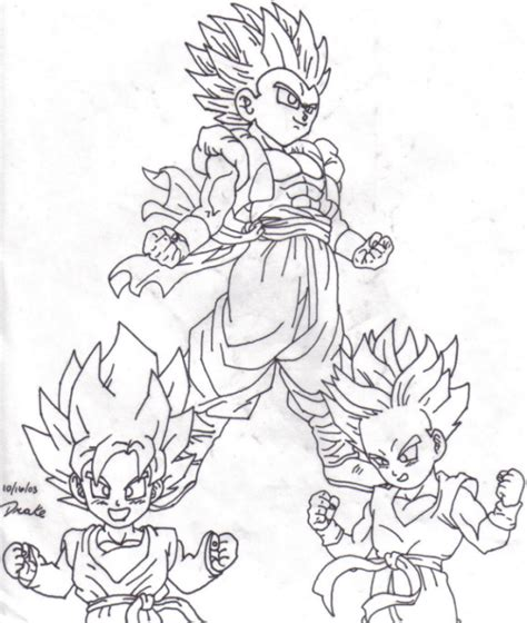 teen gotenks free coloring pages