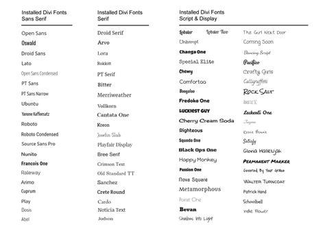 themes word list divi fonts preview divi theme exles