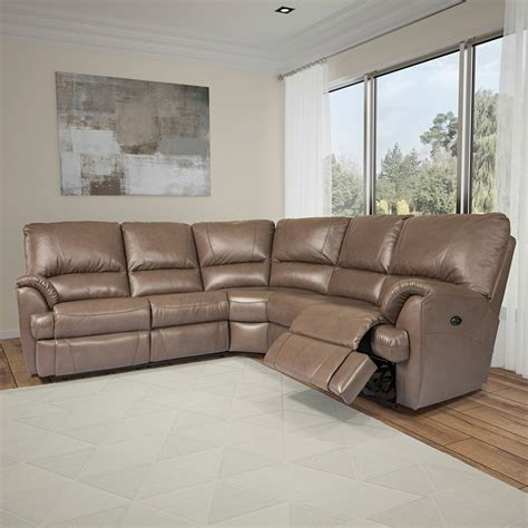 Elran Leather Sofa by Elran Mylaine Sectional Room Concepts