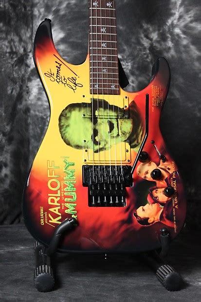 kirk hammett mummy guitar decal esp custom shop kirk hammett signature kh 2 karloff the
