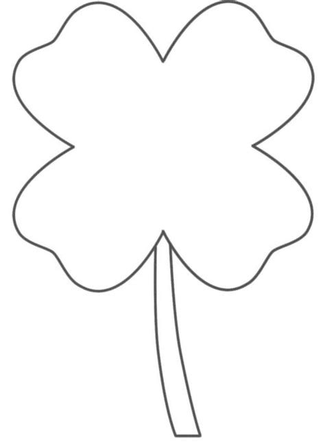 4 H Clover Coloring Pages Four Leaf Clover Color Page