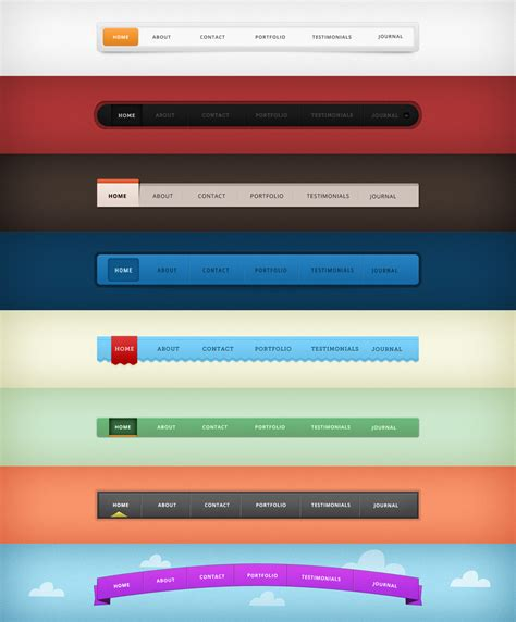 design menu navigation 80 free website menu navigation psd elements 187 css author