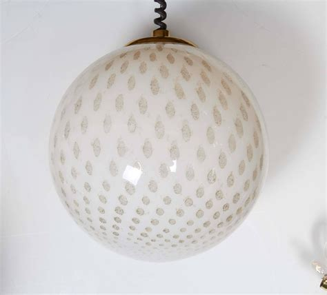 Large Glass Globe Pendant Light Italian 1980s Large Glass Globe Pendant Light For Sale At 1stdibs