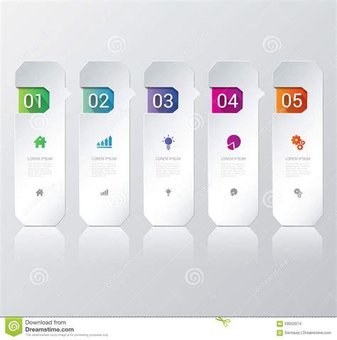 mockup design steps vector process steps labels infographics background