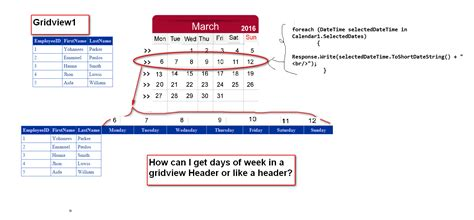 header design in asp net asp net how to display 7 days of the week in gridview