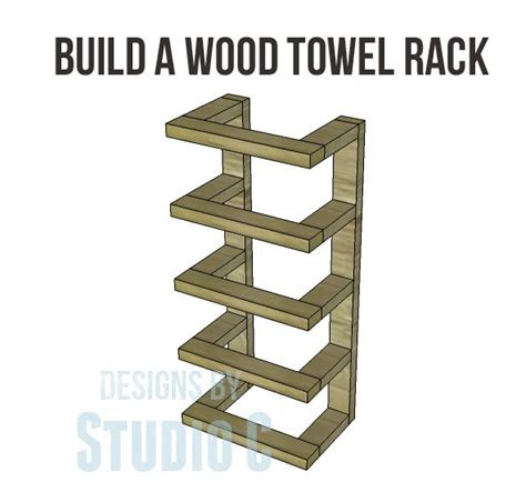 Towel Rack Ideas For Bathroom Build A Wood Towel Rack With Instructions And Dimensions