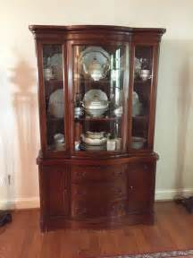Antique Duncan Phyfe bow front mahogany china cabinet beveled curved glass ? $485.00   PicClick