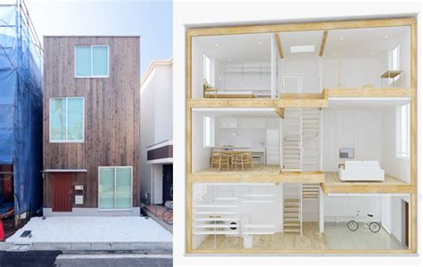 Two Family House Plans Muji S Latest Home Designed For Narrow Urban Spaces