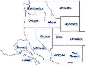 map of the west region of the united states social studies ms spieckermann s 5th grade