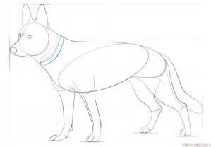 german shepherd how to how to draw a german shepherd step by step drawing tutorials
