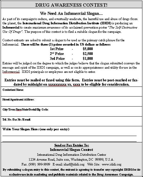 contest registration form template contest entry form sle contest entry form template